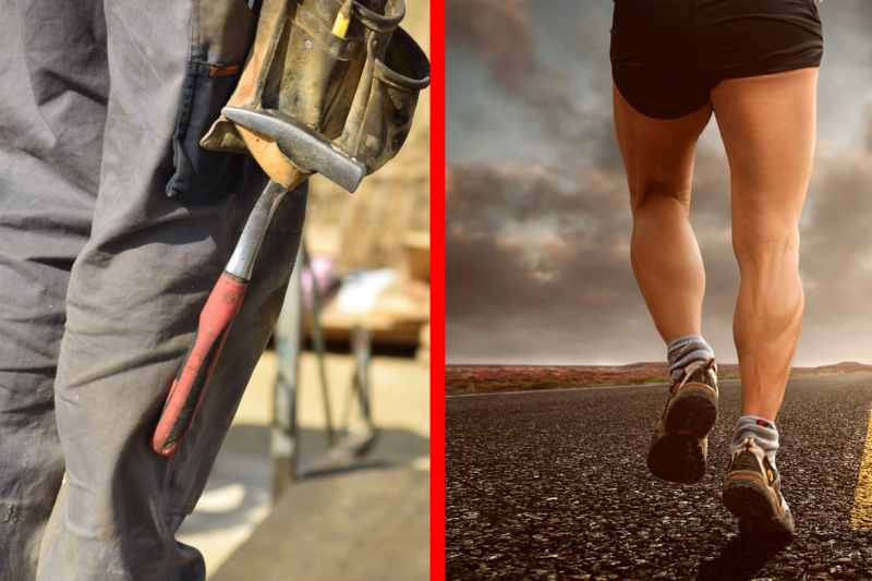 Warum Arbeit und Sport nicht dasselbe ist