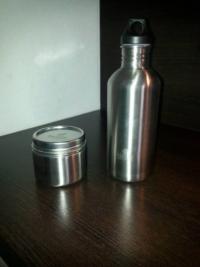 Nachhaltige Produkte für Haushalt, Freizeit und Hobby, klean kanteen Trinkflasche und Brotbüchse aus Edelstahl
