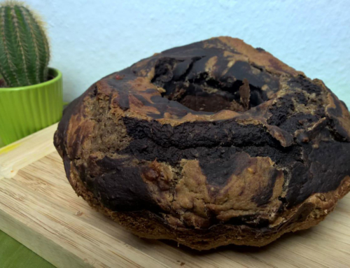 Einfacher veganer Marmorkuchen